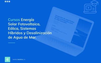 CURSOS ENERGÍA SOLAR FOTOVOLTAICA, EÓLICA, SISTEMAS HÍBRIDOS Y DESALINIZACIÓN DE AGUA DE MAR